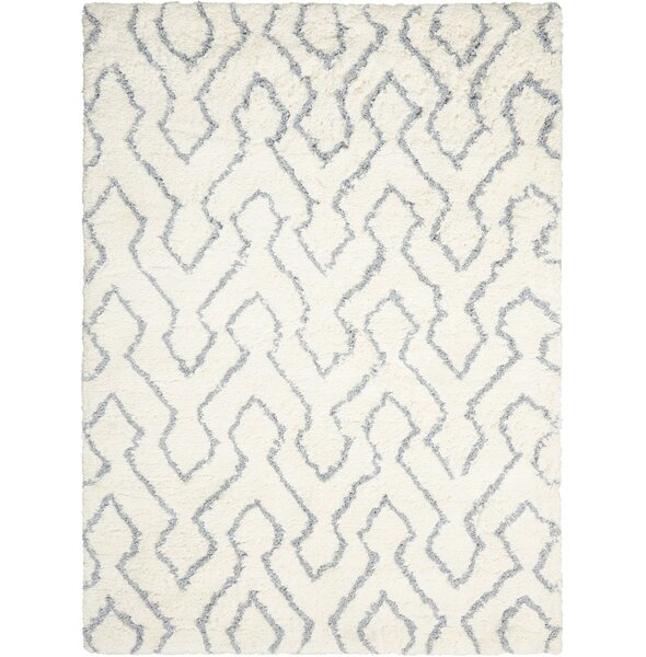 North Moore Hand-Tufted Ivory/Gray Area Rug by Brayden Studio