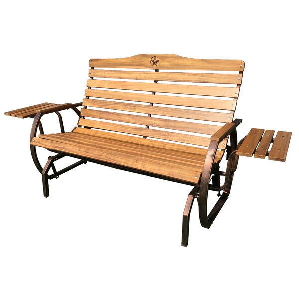 Iron Grove Slatted Glider Bench by Leigh Country