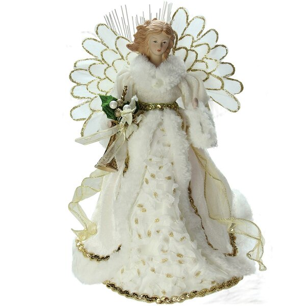 Lighted Angel in Gown Christmas Tree Topper by The Holiday Aisle