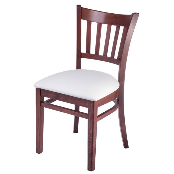 Jiles Slatback Solid Wood Dining Chair (Set of 2) by Charlton Home