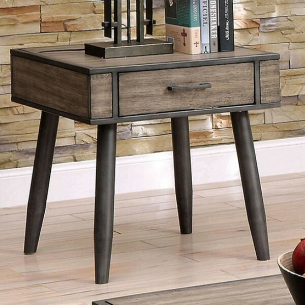 Charli End Table with Storage by Corrigan Studio