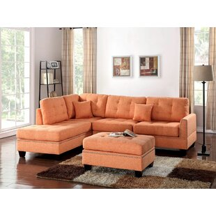 Eggert Reversible Sectional with Ottoman by Red Barrel Studio
