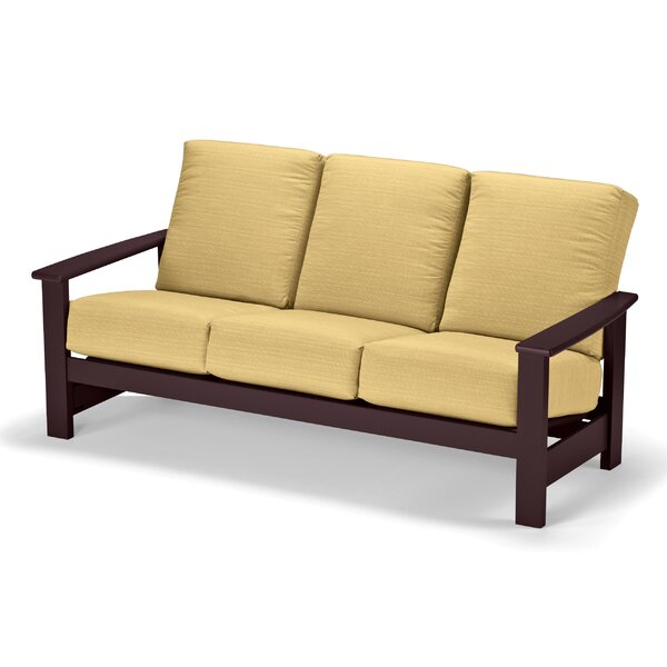 Leeward Deep Patio Sofa with Cushions by Telescope Casual