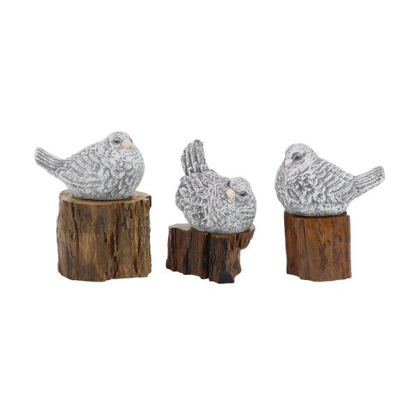 Edgewater Rustic Bird 3 Piece Figurine Set by August Grove