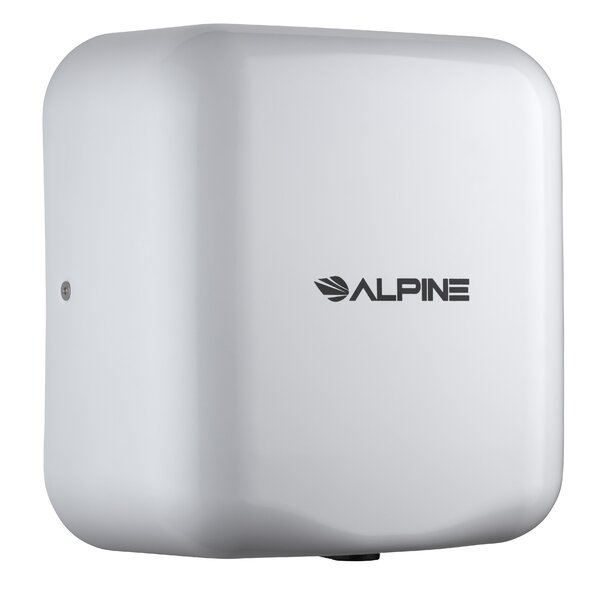 Hemlock High Speed 220 Volt Hand Dryer in White by Alpine Industries