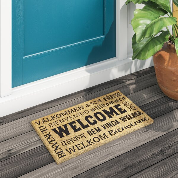 Feldt Welcome Neighbor Coir Doormat by Bloomsbury