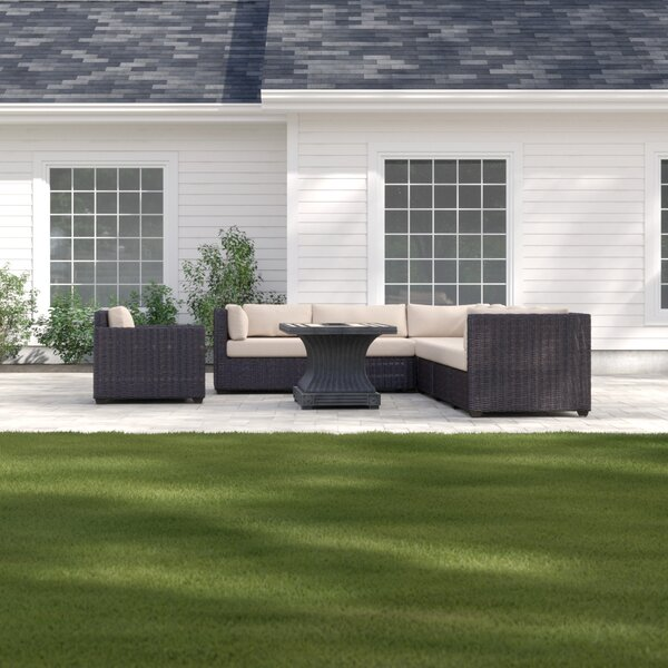 Fairfield Sectional Seating Group with Cushions by Sol 72 Outdoor