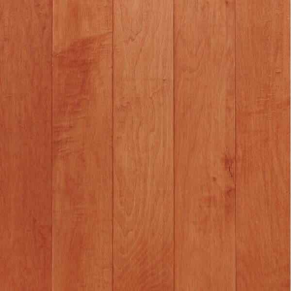 Kennedale Strip 2-1/4 Solid Maple Hardwood Flooring in Semi Gloss Cinnamon by Bruce Flooring