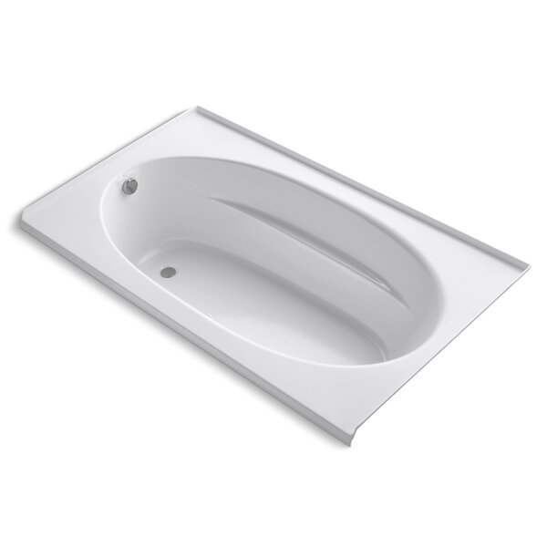 Windward Alcove Bubblemassage 72 x 42 Soaking Bathtub by Kohler