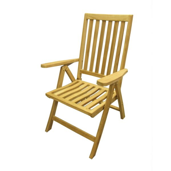 Folding Teak Patio Dining Chair by D-Art Collection
