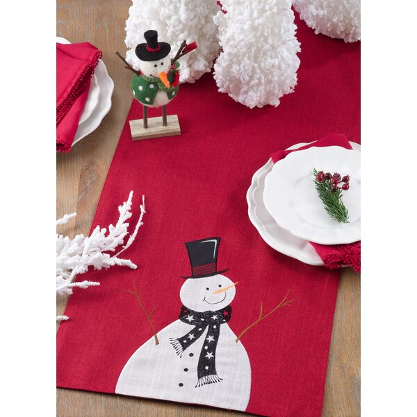 Fontaine Holiday Snowman Table Runner by The Holiday Aisle