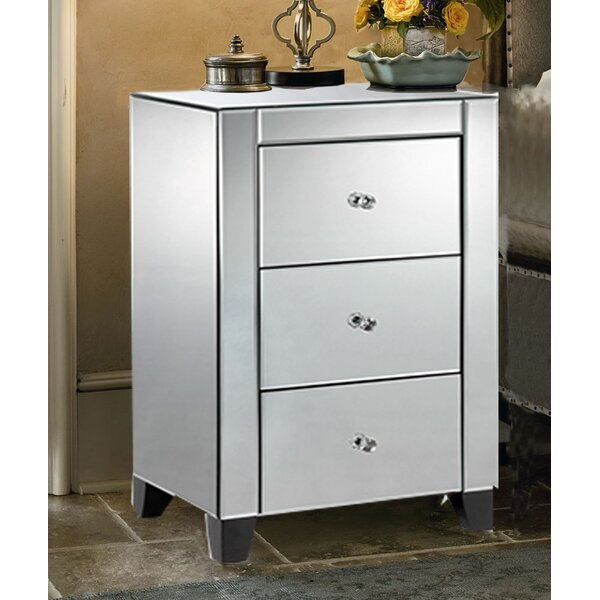 Jovan 3 Drawer Nightstand by House of Hampton