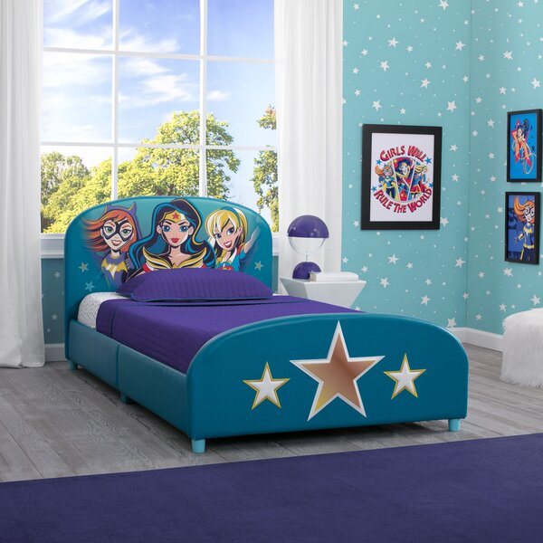 DC Super Heroes Twin Platform Bed by Delta Children