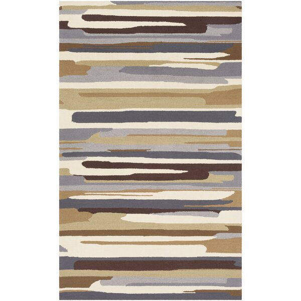 Farkas Hand-Hooked Brown/Gray Area Rug