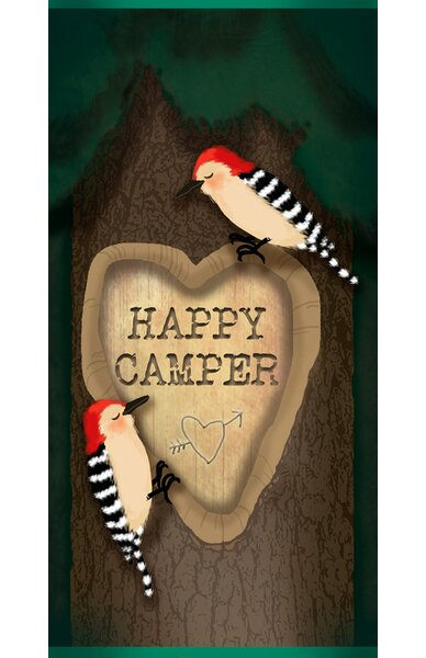 Jerome Happy Camper Birds by Angela Donato Stretched Canvas Wall Art by Zoomie Kids