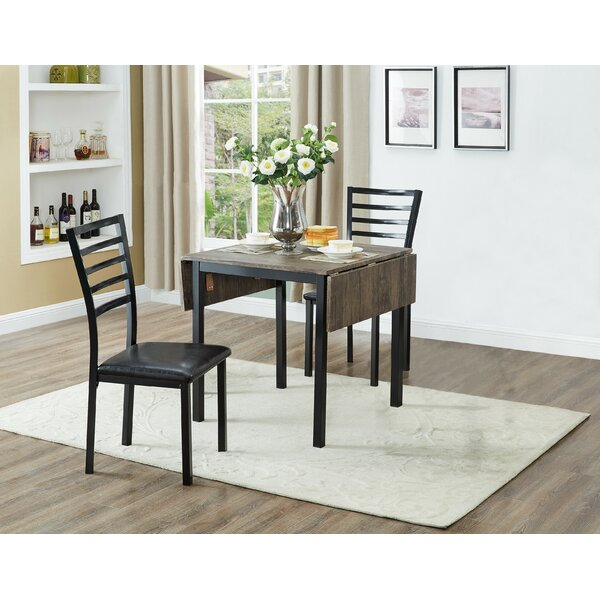 Dacula 3 Piece Drop Leaf Dining Set by Winston Porter Winston Porter