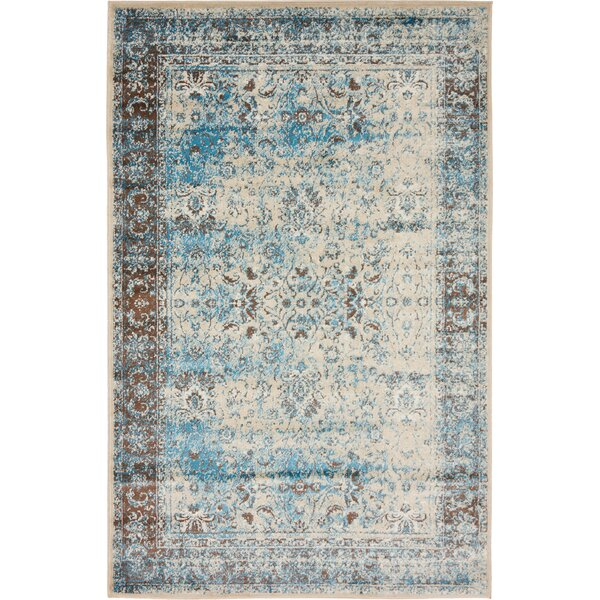 Neuilly Blue/Beige Area Rug by Mistana