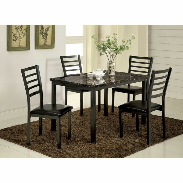 Isham 5 Piece Dining Set by Winston Porter