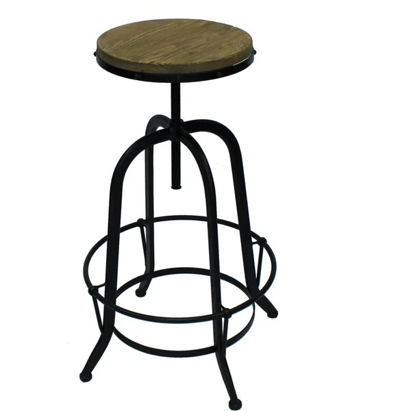 Coutee Adjustable Height Swivel Bar Stool by Williston Forge