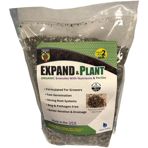 Expand and Plant Organic Coir Granules by Hydrofarm