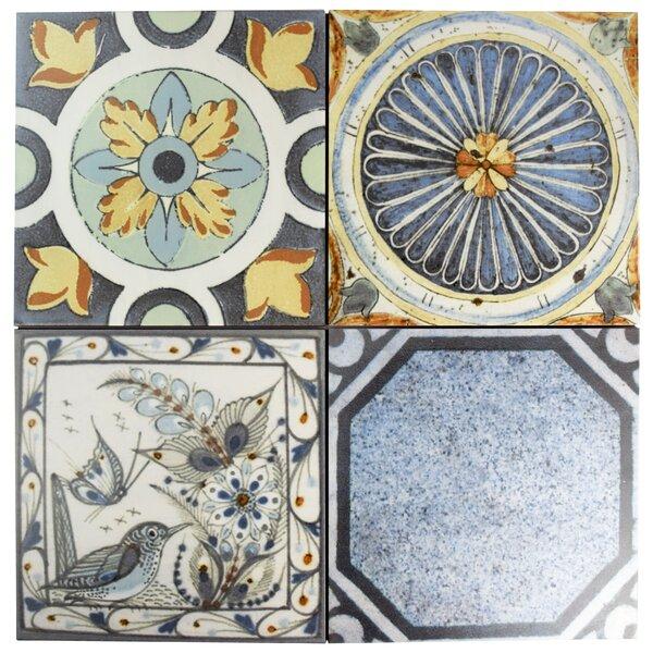 Vintage 12.38 x 12.38 Ceramic Field Tile in Azul Mix by EliteTile