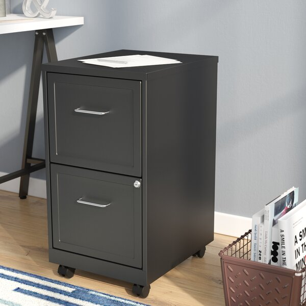 Forest 2 Drawer Mobile Vertical Filing Cabinet by Zipcode Design