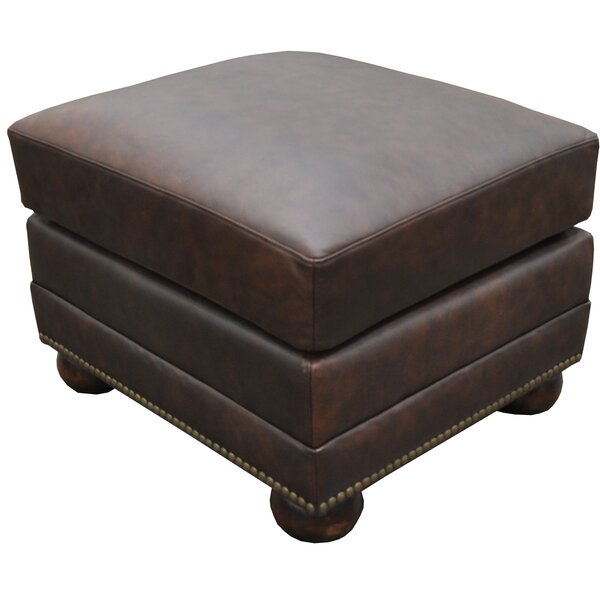 Athens Leather Ottoman by Omnia Leather