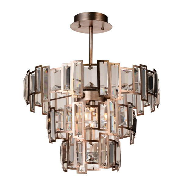 Colby 5 - Light Unique / Statement Tiered Chandelier By Rosdorf Park