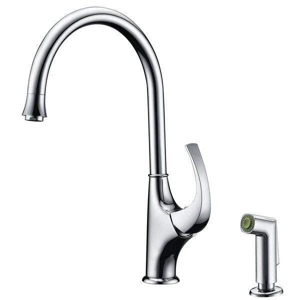 Single Handle Kitchen Faucet with Side Spray by Dawn USA