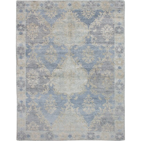 One-of-a-Kind Graver Hand-Knotted Red/Ivory Area Rug by Bungalow Rose