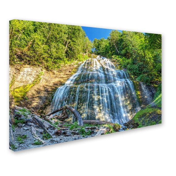 Bridal Veil Falls by Pierre Leclerc Photographic Print on Wrapped Canvas by Trademark Fine Art