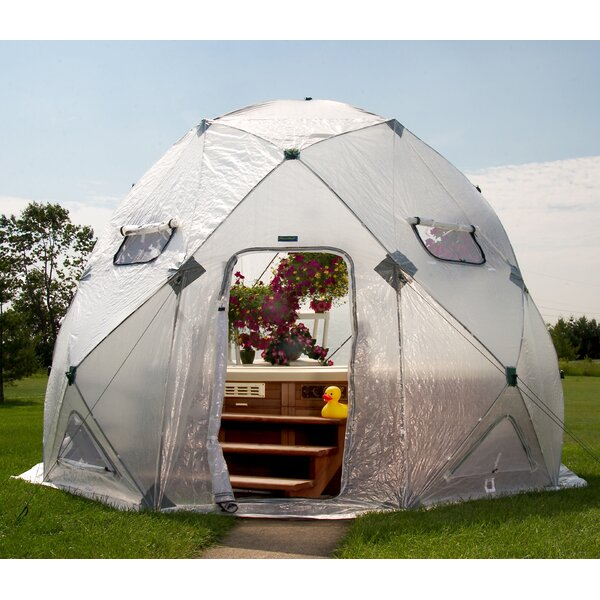 DomeHouse 13 Ft. W x 13 Ft. D Greenhouse by Flowerhouse