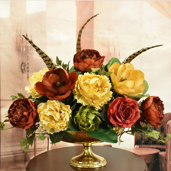 Mixed Centerpiece in Vase by Canora Grey