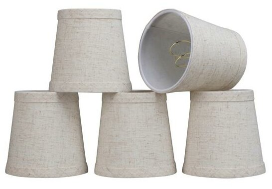 4 Linen Empire Candelabra Shade (Set of 5) by Aspen Creative Corporation