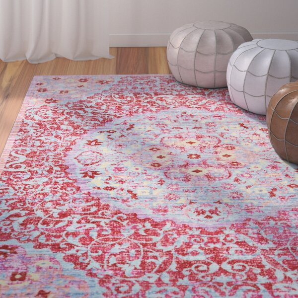 Lyngby-Taarbæk Classic Red Area Rug by Bungalow Rose