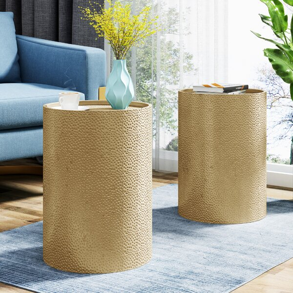 Diamondville End Table (Set of 2) by World Menagerie