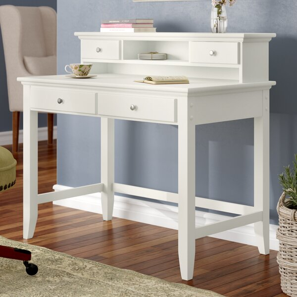 Three Posts Baby Amp Kids Cusick Writing Desk With Hutch