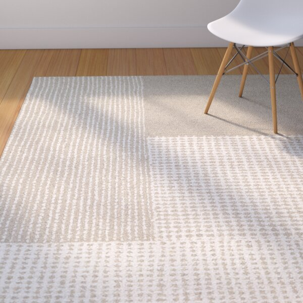 Ming Hand-Woven Gray/Light Brown Area Rug by Corri