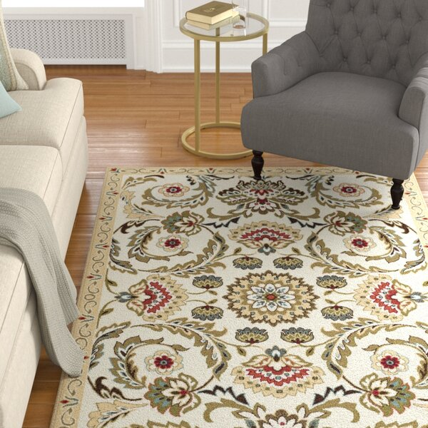 Dolan Gold/Beige Area Rug by Charlton Home