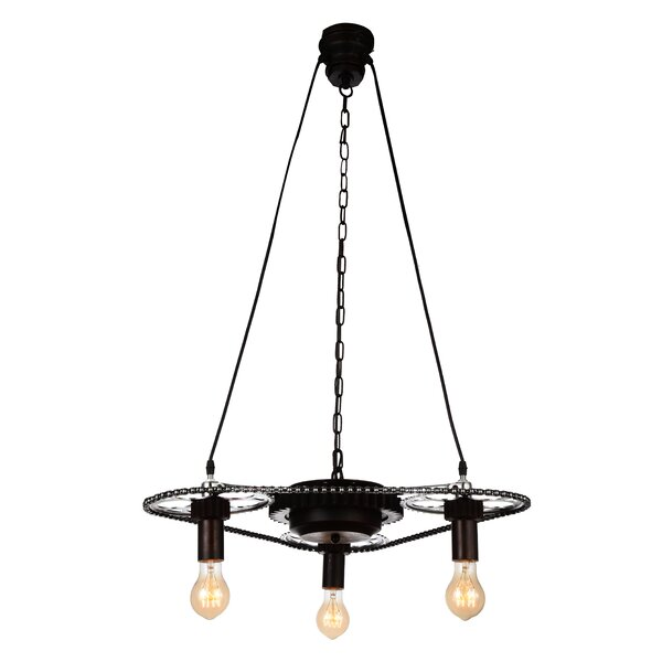 Toney 3 - Light Unique / Statement Geometric Chandelier By Williston Forge