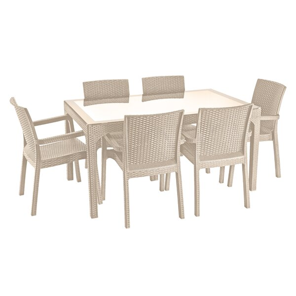 Holderman Weather Resistant 7 Piece Complete Patio Set By Brayden Studio