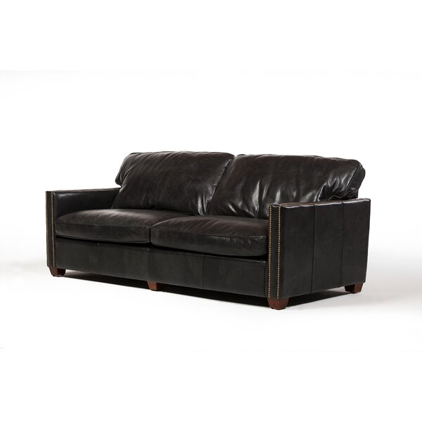 Deblois Leather Loveseat by 17 Stories
