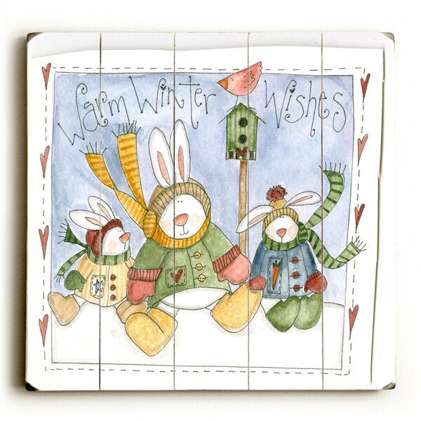 Warm Winter Wishes Graphic Art Plaque by The Holiday Aisle