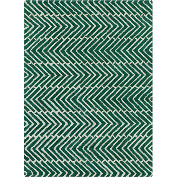Perna Green Area Rug by Brayden Studio