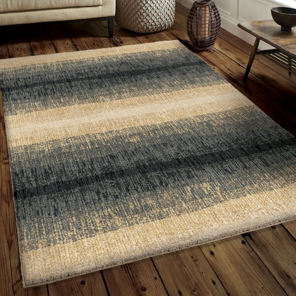 Denebola Blue/Cream Area Rug by Brayden Studio