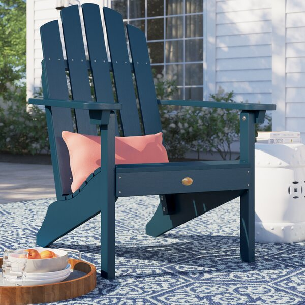 Anette Classic Plastic/Resin Adirondack Chair by Sol 72 Outdoor Sol 72 Outdoor