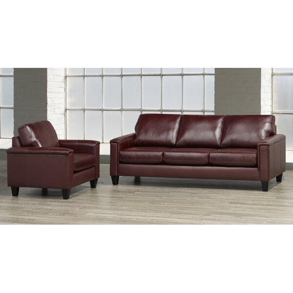 Deboer 2 Piece Leather Living Room Set by Darby Home Co Darby Home Co