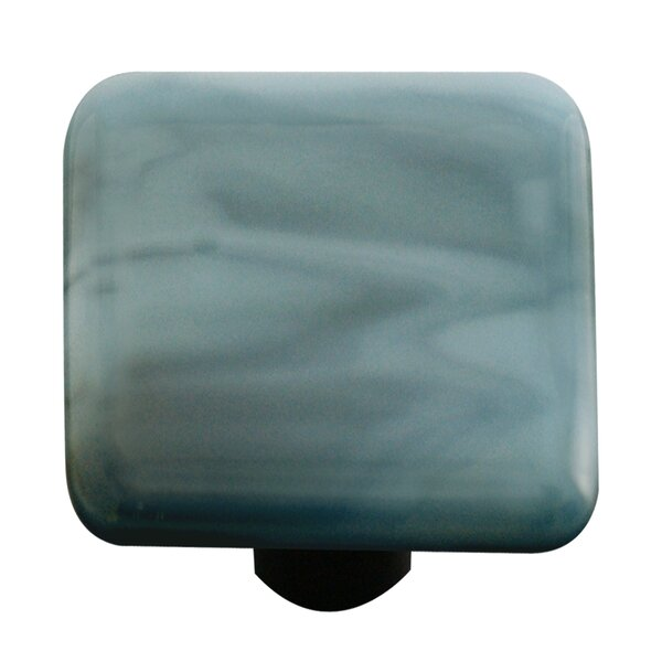 Swirl Square Knob by Aquila Art Glass