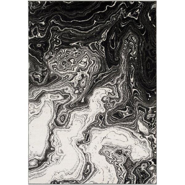 Callisto Black/Gray Area Rug by Wade Logan