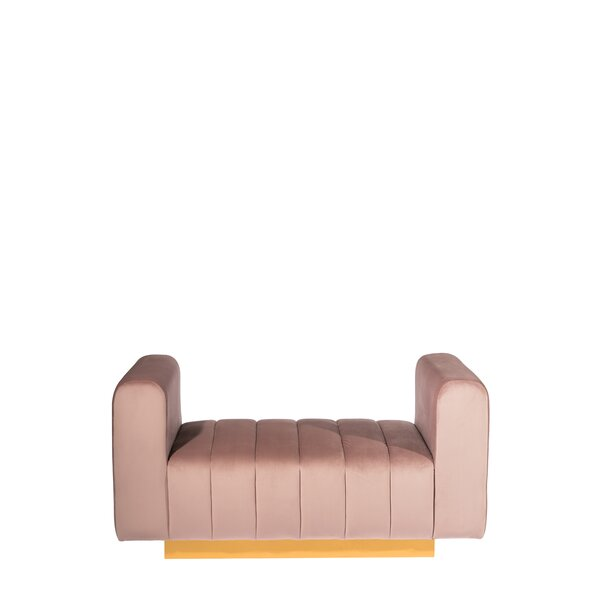 Traylor Upholstered Bench by Everly Quinn Everly Quinn
